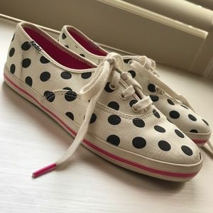 Keds x kate spade black and white polka dot